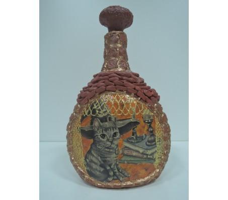 Декоративная Бутылка Кот магический