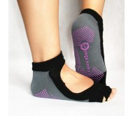 Носки для йоги Yoga socks открытые Черно-Серые