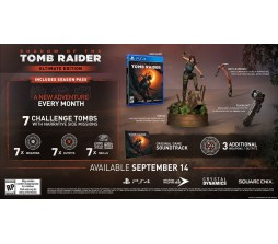 Коллекционное издание Shadow of the tomb raider ultimate edition PS4 Американское